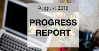 Pet Blog Progress Report – August 2016